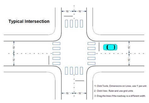 traffic intersection diagrams best photos of traffic diagram templates pdf