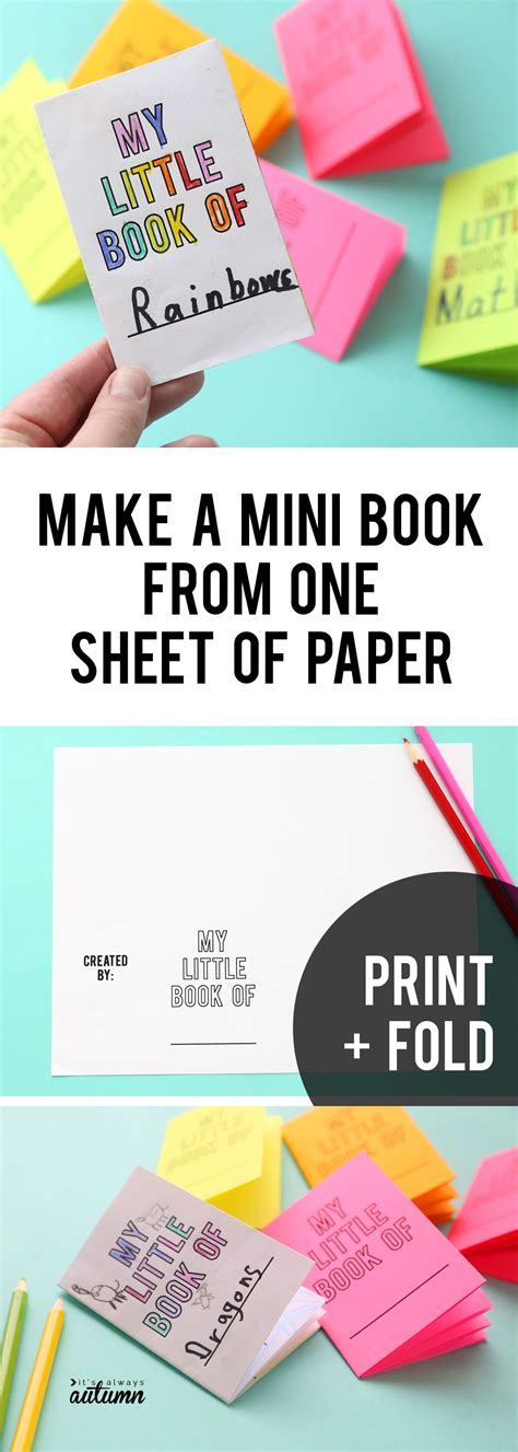 How To Make A Mini Book Out Of Paper - foldables make an 8 page mini book from one sheet of