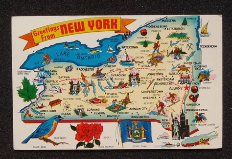map of nyc with landmarks ny state map on shoppinder