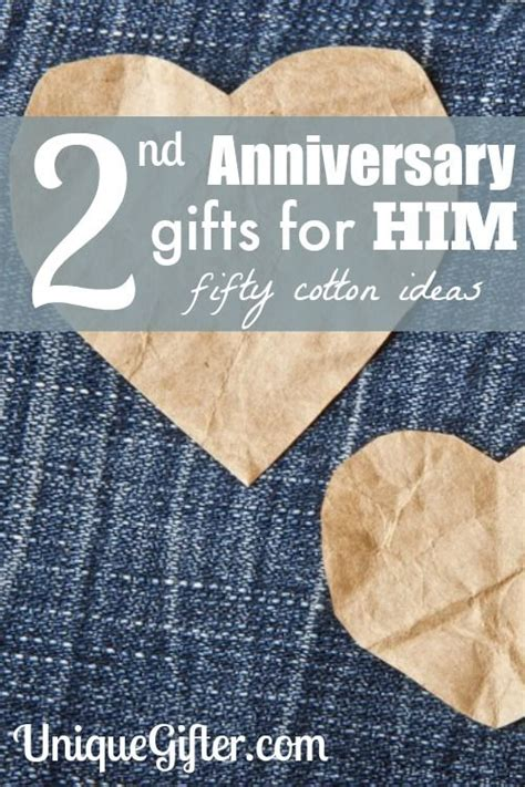 cotton 2nd anniversary gifts for him diy 2nd anniversary gifts one year anniversary