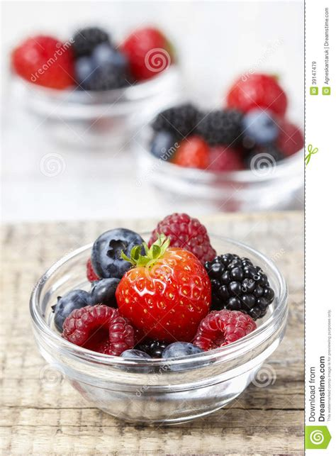 Fruit Salad Small fruit salad in small transparent bowls stock photo image 39147479