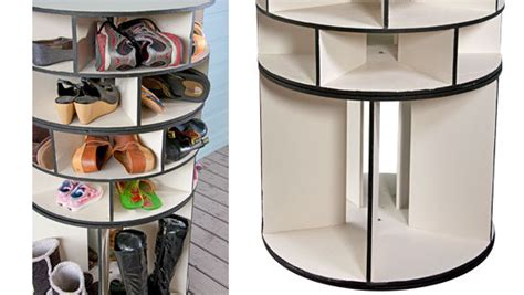 diy lazy susan shoe storage 5 diy shoe storage fabulessly frugal