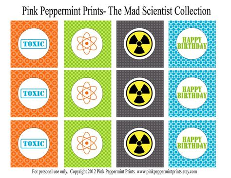 printable science party decorations printable parties new mad science printable party