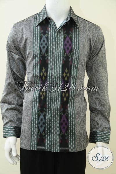 Kain Tenun Tenun Pria Wanita jual busana tenun ikat warna dan motif trend terkini baju tenun lengan panjang furing pria