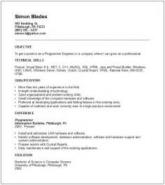 Programmer engineer Resume Example   Free templates collection