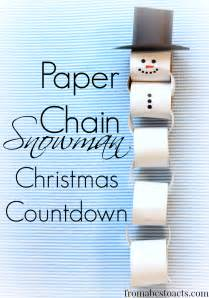 Snowman Paper Chain Template by Snowman Paper Chain Pattern Myideasbedroom