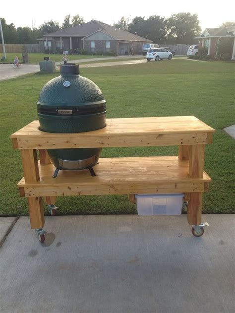 13 Best Komodo Grill Tables Images On Pinterest Bbq Kamado Grill Table Plans