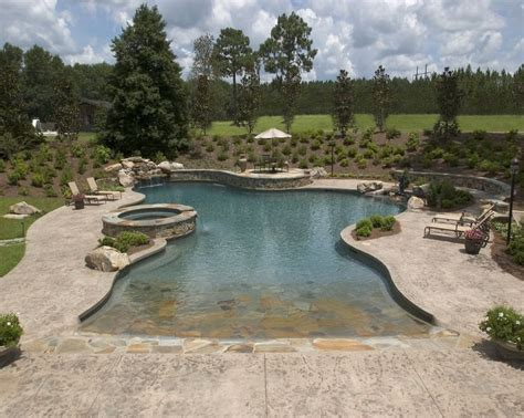 Backyard Pools With Entry Best 25 Zero Entry Pool Ideas On Entry