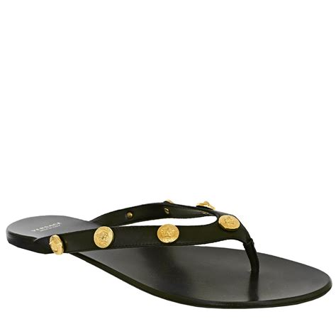 sandals flat shoes versace shoes studded flat sandals