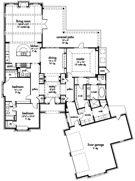 craft room floor plans i like the mud room laundry craft one story floor plan