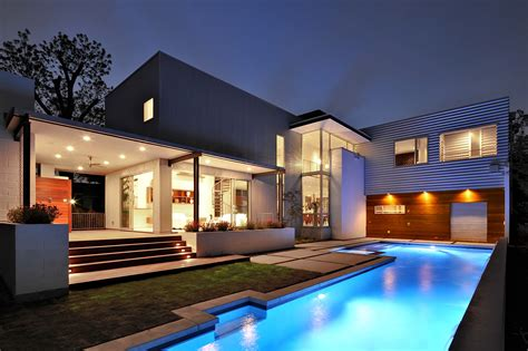 Wallpaper House, Mansion, pool, modern, interior, High