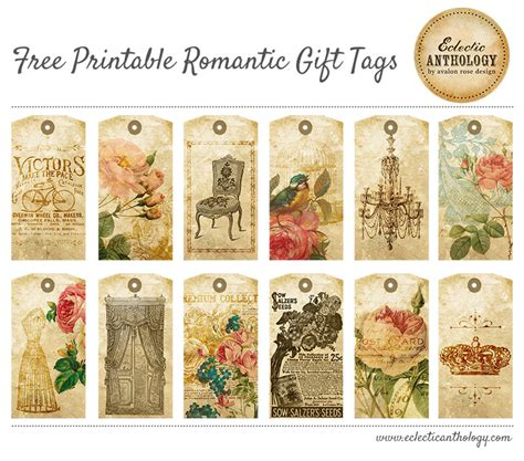 printable retro gift tags free printable vintage romantic gift tags tons of free