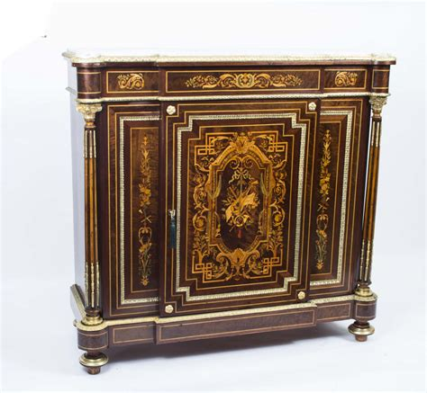 Regent Antiques   Cabinets   Antique French Napoleon III Marquetry Cabinet c.1860