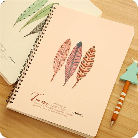 Blues Fresh Spiral Ruled Notebook B5 Buku Spiral Garis B5 large size spiral page notebook student stationery thickness note books eyeshield paper feather