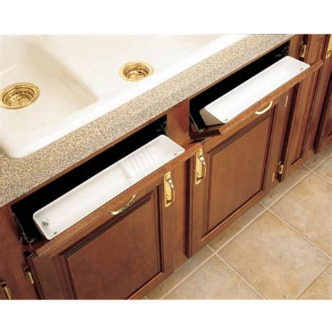 kitchen sink cabinet tray cabinet organizers lazy daisy by rev a shelf polymer tip out trays set of 2 kitchensource com