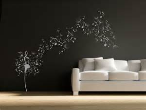 Wall Stickers Dandelion Dandelion Clock Seeds Music Note Wall Decal Sticker
