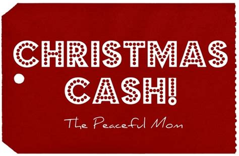 Win Money For Christmas - the peaceful mom