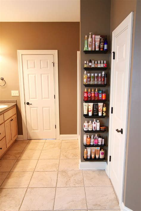 Organize Your Bathroom by Bathroom Shelves Organizing Perfumes And Lotions 1a