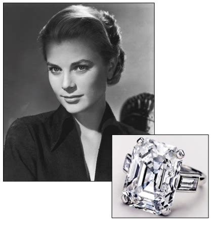 grace kelly from prince rainier of monaco was a 10 47 carat emerald cut engagement ring flanked