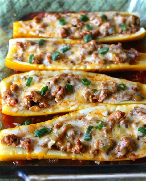 taco boats with cheese taco stuffed summer squash boats recipe stuffed summer