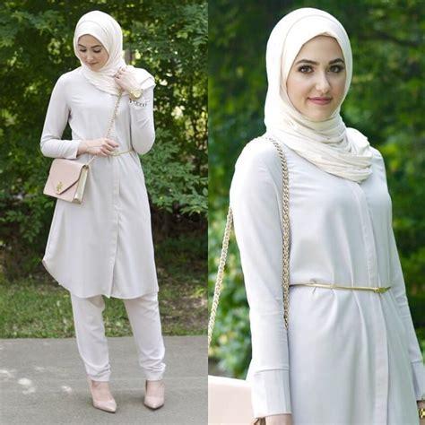 Blouse Muslim Lina للمحجبة 7 نصائح لإطلالة القميص الطويل مجلة سيدتي