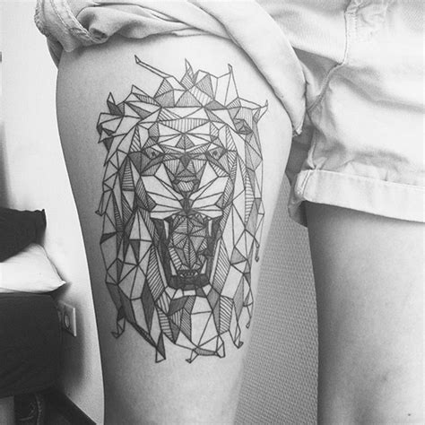 geometric lion tattoo 101 geometric designs and ideas