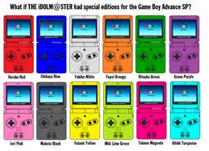 boy advance sp the idolm ster colors by