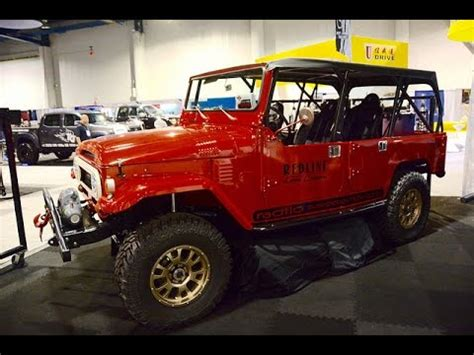 icon fj40 4 door sema 2014 at the booth redline land cruisers 4 door fj 40