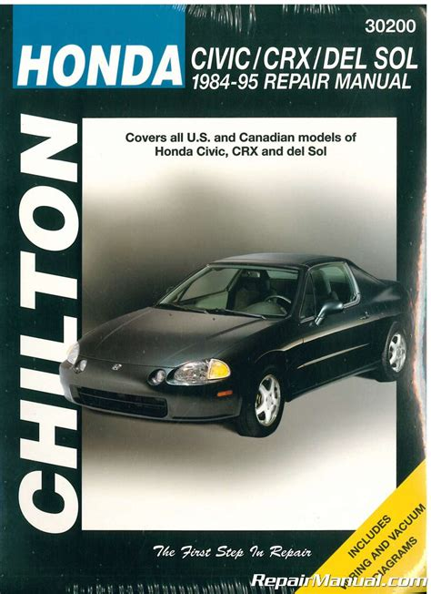 repair manual honda civix crx 1984 chilton honda civic crx and del sol 1984 1995 repair manual