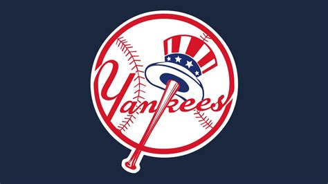 mlb new york yankees ball and american hat logo 1920x1080