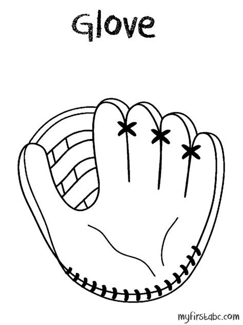 easy softball coloring pages baseball glove coloring page coloring home