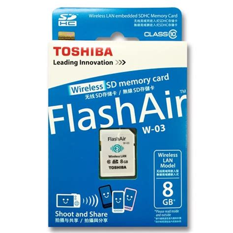 Termurah Toshiba Flash Air Wireless Sd Card Class 10 32gb Sd toshiba flash air wireless sd card class 10 8gb thn nw03w0080c6 white jakartanotebook