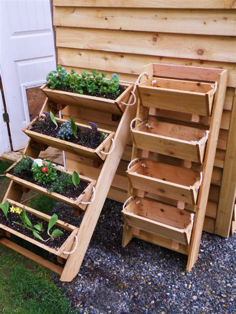 Standing Garden Planter new 24 vertical gardening raised elevated planting by ropedoncedar