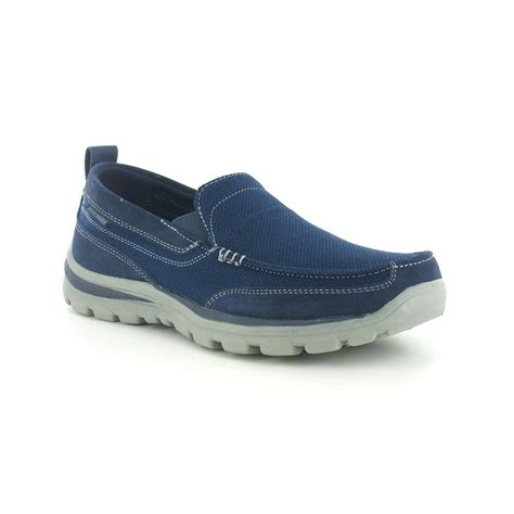 sketchers superior milford slip on mens shoe navy