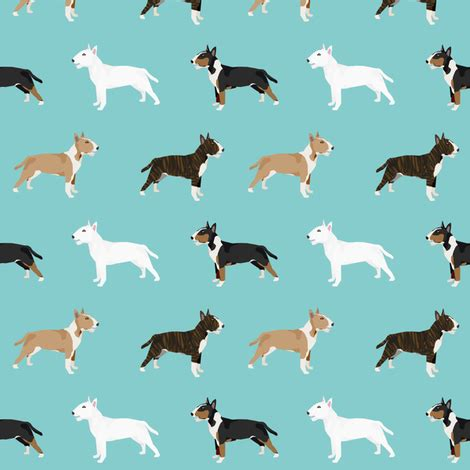 Pet Friendly Fabric by Bull Terrier Variety Coat Colors Breed Fabric By Pet