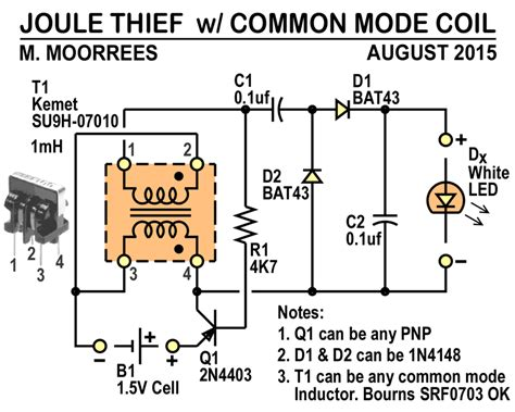 joule thief without inductor miscellaneous projects threeneuron s pile o poo