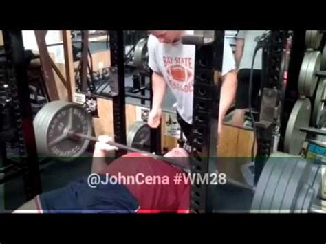 john cena bench press max john cena raw bench press 435 pounds youtube