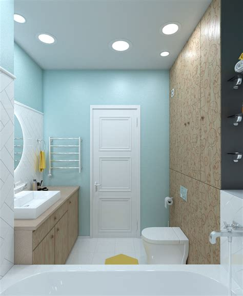 yellow and blue bathroom bright homes in three styles pop art scandinavian and
