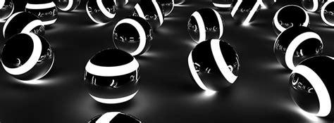 Black And White Designs Couverture Facebook Facebook Cover Boules En Verre Noir Et