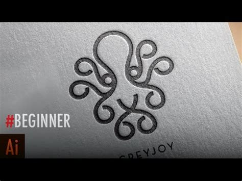 illustrator tutorial octopus how to create a stylish single weight line art logo in
