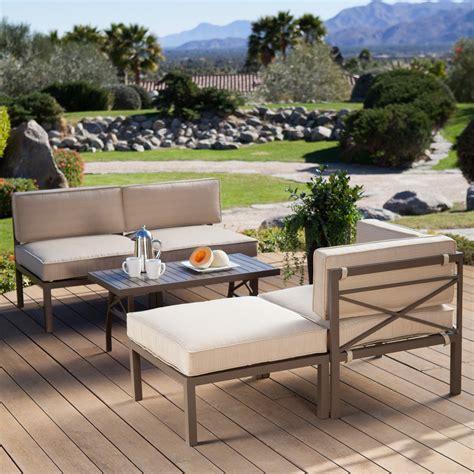 coral coast bellagio  piece aluminum sectional sofa set