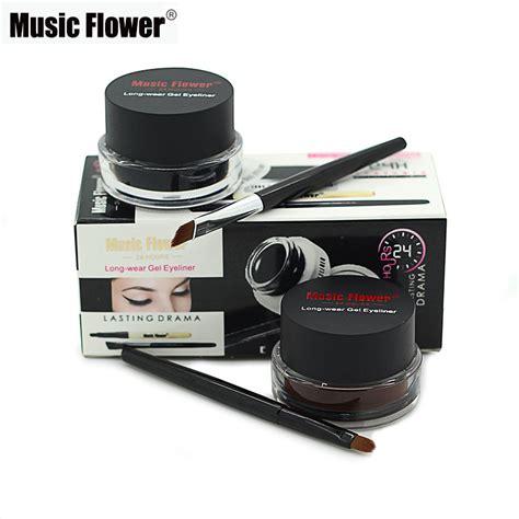 Gel Eye Liner Warna 2 In 1 flower brand eye makeup 2 in 1 brown black gel eyeliner make up water proof smudge proof