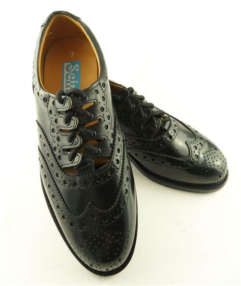 scottish boots mens black leather celtic kilt scottish brogues shoes ebay