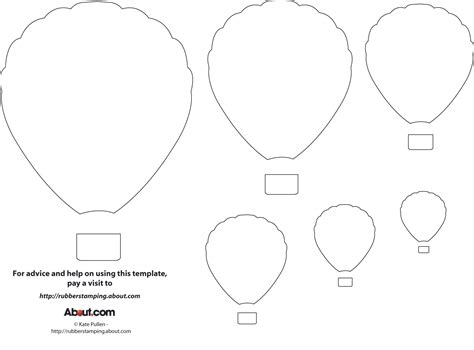 air balloon templates free balloon zilla pic free printable balloon template
