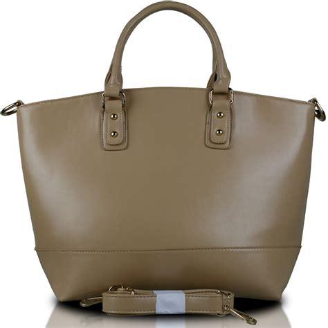 Fashion Bag 1110 l1110 miss lulu classic leather look tote handbag beige