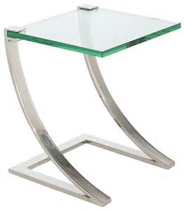 uptown floating glass end table