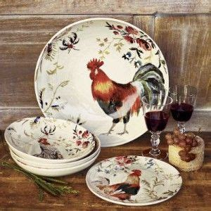 rooster print dishes rooster chicken decor pinterest roosters and dishes