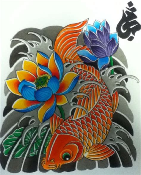 koi and lotus tattoo designs koi fish and lotus designs