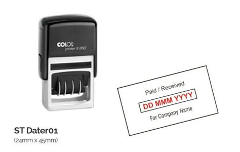 corporate rubber st order custom self inking pre inked address sts