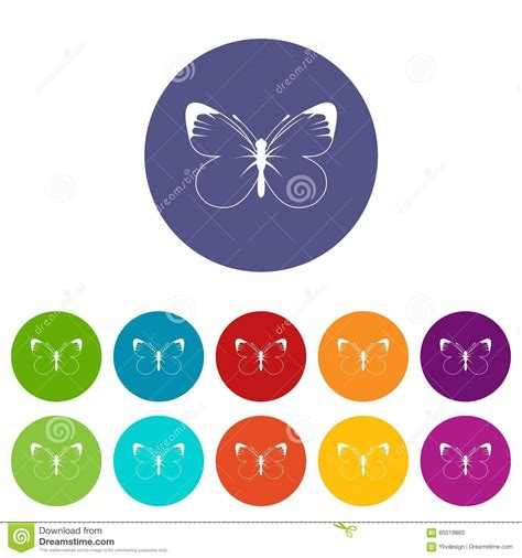 Butterfly Set butterfly set icons stock vector image 85019860
